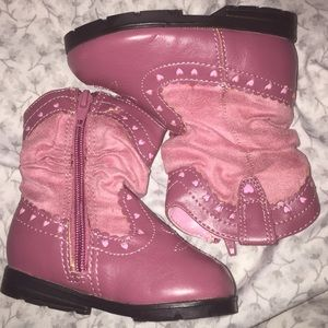 CUTE PINK BOOTS!!!